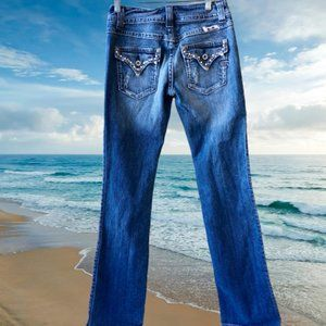 Miss Me Jeans Boot Cut Modello DANGLING HEARTS